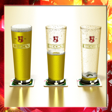Becks Beer Glass Pint  3D Model