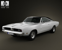 Dodge Charger RT 1969 3D Model