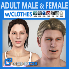 Pack - Adult Male and Female 3D Model