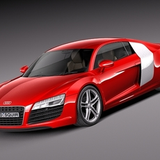 Audi R8 2013 3D Model