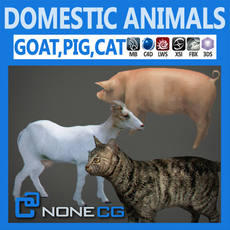 Pack - Domestic Animals 3D Model
