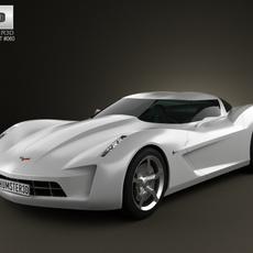 Chevrolet Stingray concept 2009 3D Model
