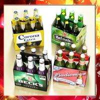 Beers cardboard pack collection 3D Model