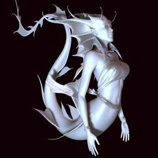 Mermaid Statue 3D Model
