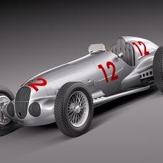 Mercedes-Benz W125 Grand Prix Race Car 3D Model