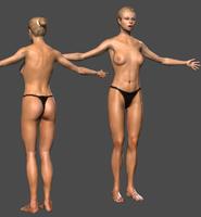 Girl Lowpoly 3D Model