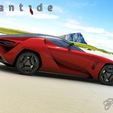Bertone Mantide concept 3D Model
