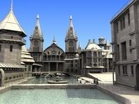 Church Scene 3D Model