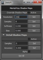 Mental Ray Shadow Map Manager for Maya 1.0.1 (maya script)