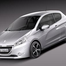Peugeot 208 3-door 2013 3D Model