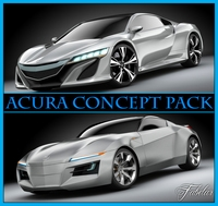 Acura Concept pack 3D Model