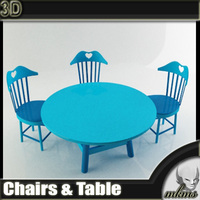 Chairs & Table	 3D Model