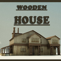 Wooden House 1 3D Model