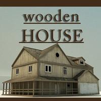 wooden House 3 3D Model