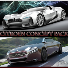 Citroen Concept pack 3D Model
