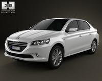 Peugeot 301 2013 3D Model