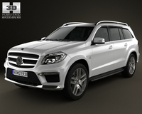 Mercedes-Benz GL-Class X166 AMG 2013 3D Model