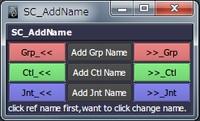 Free SC_AddName for Maya 1.0.0 (maya script)