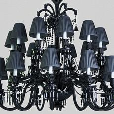 Baccarat Zenith Noir Chandelier  3D Model