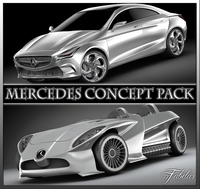 Mercedes Concept pack 3D Model