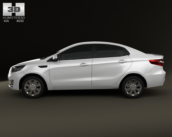 Kia Rio (K2) Sedan 2012 3D Model: https://community.highend3d.com/3d-model/kia-rio-k2-sedan-2012-3d-model