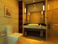Guest room bathroom 001 3D Model