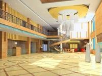 Lobby 009 3D Model