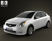 Nissan Sentra 2012 3D Model