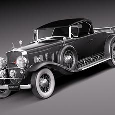 Cadillac v16 sixteen 1930 roadster 3D Model