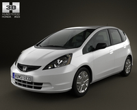 Honda Fit (Jazz) Base 2012 3D Model
