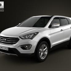 Hyundai Santa Fe 2012 3D Model