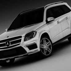 Mercedes GL63 AMG 2013 3D Model