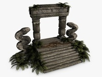 Ancient jungle ruins 3D Model