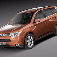 Mitsubishi Outlander 2013 3D Model