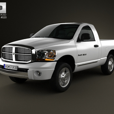 Dodge Ram 1500 Regular Cab Laramie 120-inch Box 2008 3D Model