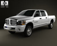 Dodge Ram 1500 Mega Cab Laramie 160-inch Box 2008 3D Model