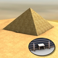 Egyptian pyramid 3D Model