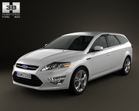 Ford Mondeo wagon Mk4 2011 3D Model