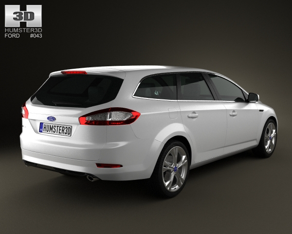ford mondeo wagon mk4 2011 3d model. Black Bedroom Furniture Sets. Home Design Ideas