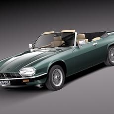 Jaguar XJS convertible 1975 3D Model