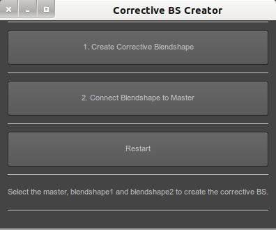 Corrective Blendshape Creator for Maya