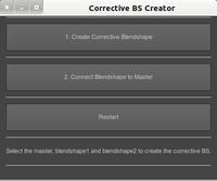 Corrective Blendshape Creator for Maya 2.0.1 (maya script)