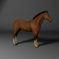 Rhett the Clydesdale Horse Model & Rig 3D Model