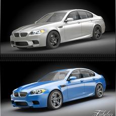 BMW M5 2012 3D Model