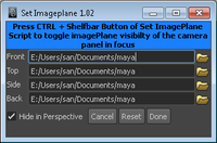 Free Set Imageplane / Toggle ImagePlane for Maya 1.0.2 (maya script)