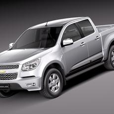 Chevrolet Colorado 2012 Double Cab 3D Model