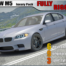 BMW M5 2012 luxury pack 3D Model