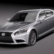 Lexus LS 460 F Sport 2013 3D Model