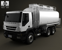 Iveco Trakker Fuel Tank Truck 3-axis 2012 3D Model
