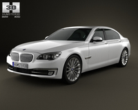 BMW 7 Series (F02) 2013 3D Model